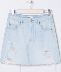 Niebieska spódnica Sinsay mini z jeansu