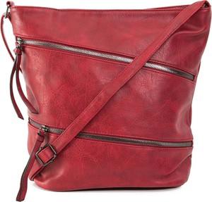 Czerwona torebka Sheandher.pl na ramię ze skóry ekologicznej