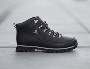 Buty zimowe Bustagrip ze skóry sznurowane