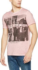 Różowy t-shirt edc by Esprit