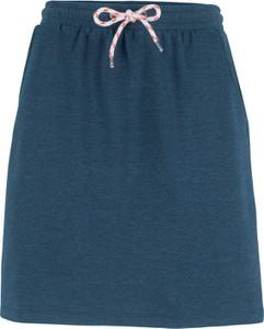 Niebieska spódnica bonprix bpc bonprix collection mini z dresówki w stylu casual