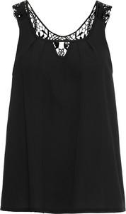 Czarny top bonprix BODYFLIRT boutique z dekoltem w karo w stylu casual