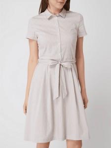 Sukienka Montego w stylu casual z krótkim rękawem z bawełny