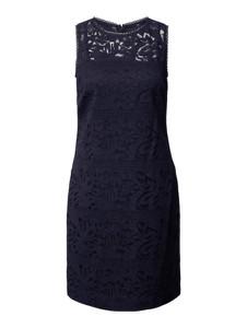 Granatowa sukienka Ralph Lauren mini bez rękawów z okrągłym dekoltem
