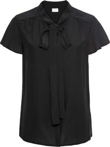 Czarna bluzka bonprix bodyflirt z krótkim rękawem
