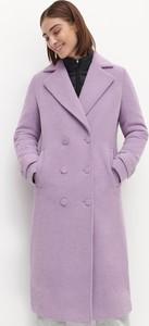Fioletowy płaszcz Reserved
