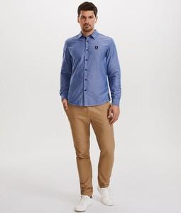 Niebieska koszula DiverseExtreme z długim rękawem z tkaniny