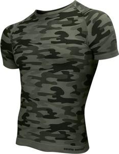 T-shirt Sesto Senso z krótkim rękawem w militarnym stylu