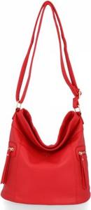 Czerwona torebka Bee Bag w stylu glamour na ramię
