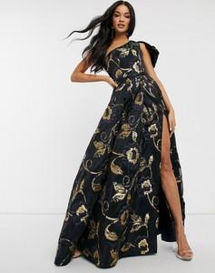 Granatowa sukienka Bariano maxi