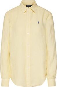 Żółta bluzka POLO RALPH LAUREN z długim rękawem