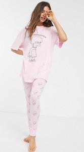 Różowe legginsy Asos