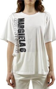 T-shirt MM6 Maison Margiela z okrągłym dekoltem z krótkim rękawem