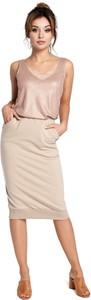 Spódnica Be z bawełny midi