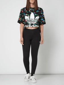 Czarne legginsy Adidas Originals z bawełny