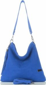 Niebieska torebka VITTORIA GOTTI przez ramię