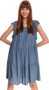 Sukienka Top Secret koszulowa z krótkim rękawem mini