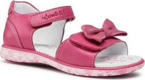 Różowe buty dziecięce letnie Lasocki Kids na rzepy ze skóry