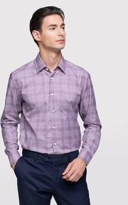 Fioletowa koszula Vistula w stylu casual z długim rękawem