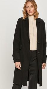 Czarny płaszcz Calvin Klein z wełny w stylu casual