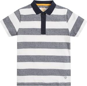 Koszulka dziecięca Cool Club w paseczki z krótkim rękawem z bawełny