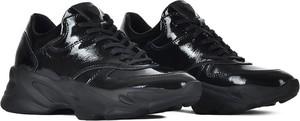 Czarne buty sportowe Swiat Obuwia sznurowane