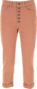 Brązowe jeansy Dondup z bawełny