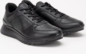 Czarne buty sportowe Ecco ze skóry