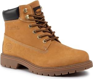 Brązowe buty zimowe Dockers sznurowane