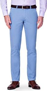 Niebieskie chinosy LANCERTO z bawełny