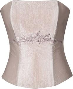 Różowa bluzka Fokus w stylu glamour