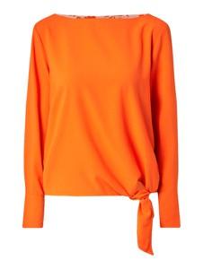 Pomarańczowa bluzka Tom Tailor z dekoltem w łódkę z długim rękawem w stylu casual