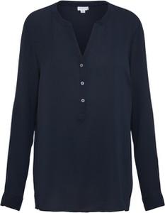 Granatowa bluzka JACQUELINE DE YONG z długim rękawem z szyfonu