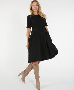 Czarna sukienka Unisono z bawełny
