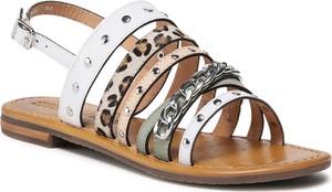 Sandały Geox ze skóry w stylu casual z nadrukiem