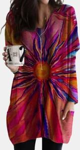 Sukienka Cikelly mini w stylu casual z dekoltem w kształcie litery v
