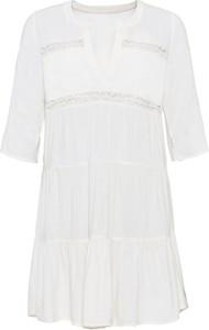 Sukienka bonprix z długim rękawem mini w stylu casual