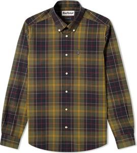 Koszula Barbour z kołnierzykiem button down z bawełny z długim rękawem
