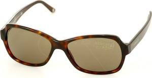 Brązowe okulary damskie Versace