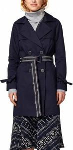 Granatowy płaszcz Esprit w stylu casual