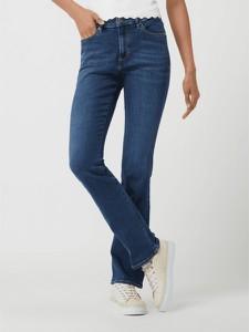 Granatowe jeansy S.Oliver w stylu casual z bawełny