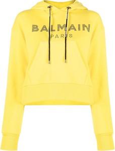 Żółta bluza Balmain z bawełny w stylu casual