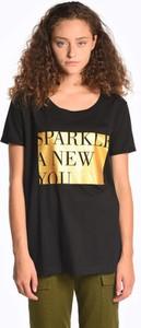 T-shirt Gate z okrągłym dekoltem z krótkim rękawem z bawełny