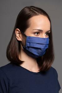 MASKKA 1554 Bawełniana maska Classic Granatowy Bawełna 100%