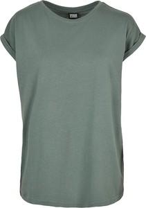 Zielona bluzka Emp z okrągłym dekoltem z krótkim rękawem