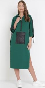Sukienka born2be w stylu casual z długim rękawem midi