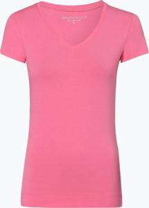 Różowy t-shirt Marie Lund w stylu casual z dżerseju