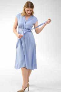 Niebieska sukienka ORSAY midi z tkaniny