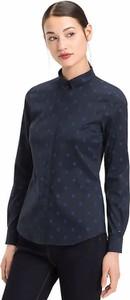 Niebieska koszula Tommy Hilfiger z kołnierzykiem z długim rękawem