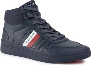 Sneakersy TOMMY HILFIGER - Core Corporate High Modern Vulc FM0FM02650 Desert Sky DW5